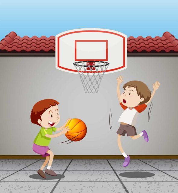 Du basket en GS et en CE1