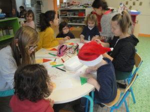 Bricolage de Noël en Parrainage : classes de Marie-Agnès & Manuela et de Frédéric