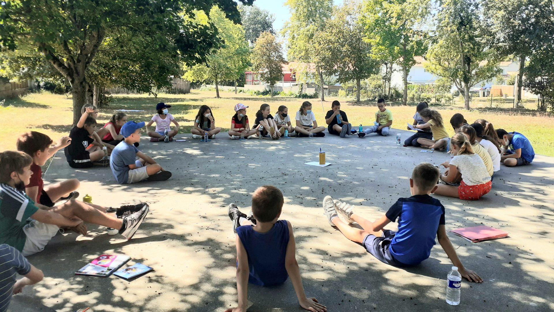 Classe flexible … et en extérieur